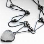 Oxidized Sterling Silver Necklace. ..